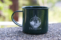 Mug: Deer/tree Metal (green)