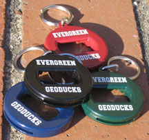 Keytag Bottle Opener Evergreen Geoducks