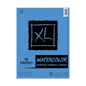 Canson XL Watercolor Pad Euro Fold 9x12 140lb (SKU 1085909444)