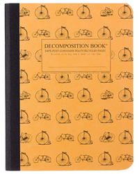 Decomposition Comp Notebook Vintage Bicycles