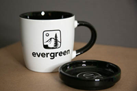 Desk Mug Coaster Set w/tree and E