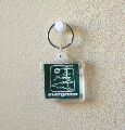 Square Keychain Square With Tree