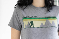 T-shirt Sasquatch I Believe Evergreen