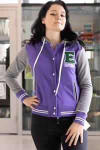Fitted Cardigan Sweatshirt w/ E Applique
